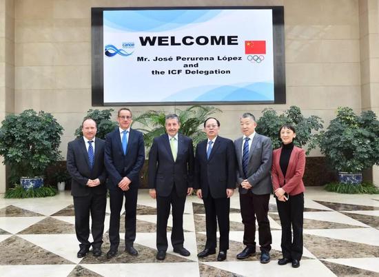 国际皮划艇联合理事会举行 苟仲文接见佩鲁雷纳主席