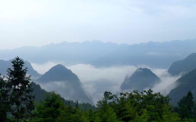 湄坪村记事 ——峰回五龙 高桥飞瀑