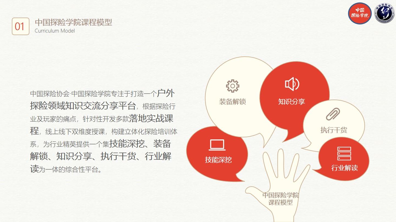 中国探险协会·中国探险学院将陆续开办探险全门类专业技能课程